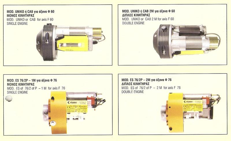 Κεντρικά μοτέρ για άξονες με ελατήρια